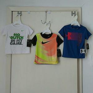 Nike & Under Armour 2T, Toddler Boys Shirts Bundle